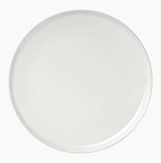 Oiva valkoinen pieni pyöreä lautanen