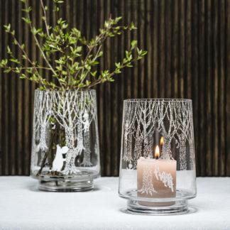 Muumi metsässä kynttilälyhty/maljakko